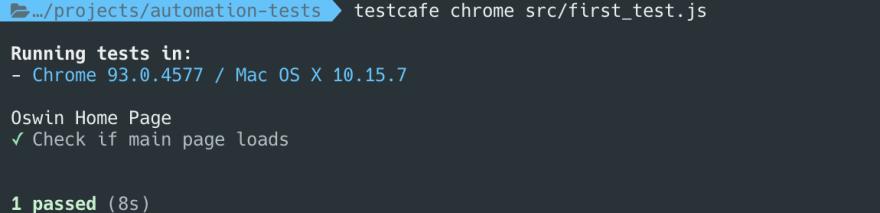 result display in terminal