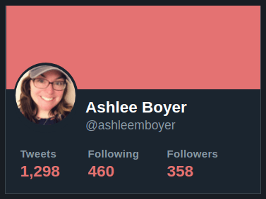 Screenshot of my current Twitter profile stats
