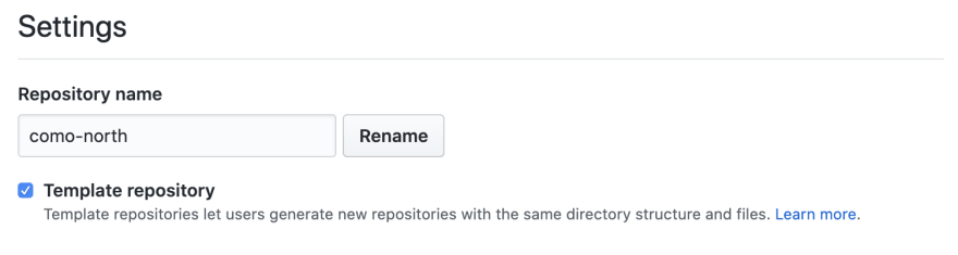 Made the project a template for GitHub