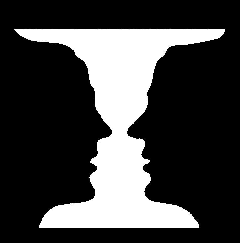 Two faces or vase