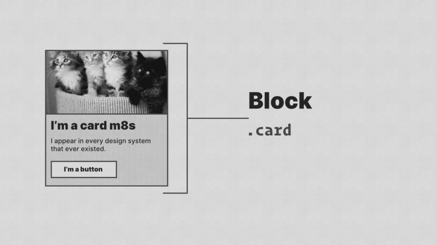 A card component with a '.card' label