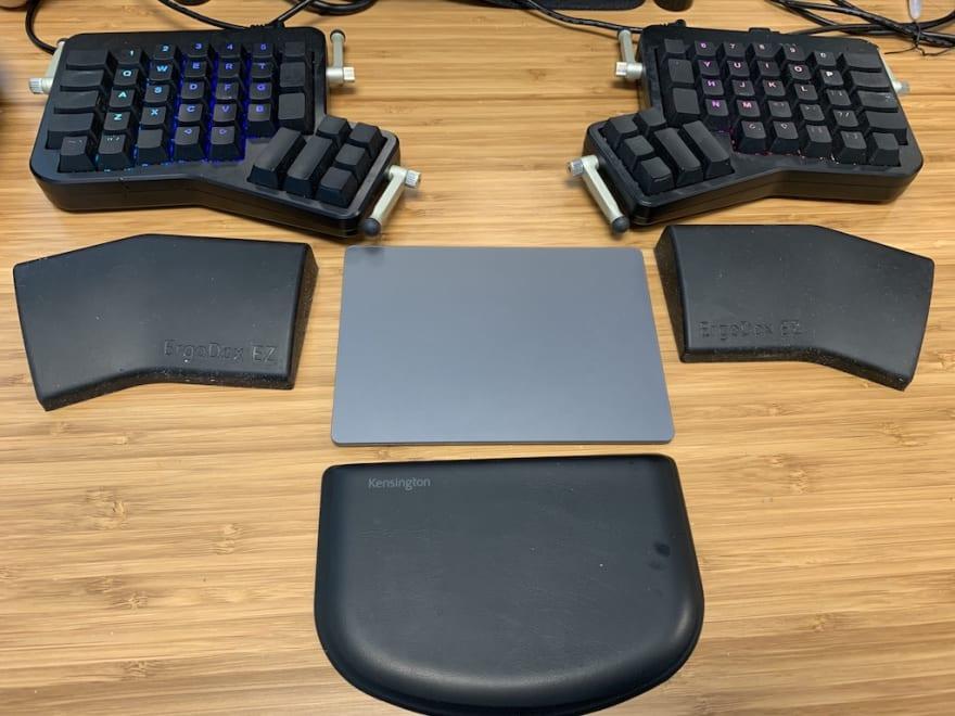 My keyboard and trackpad setup