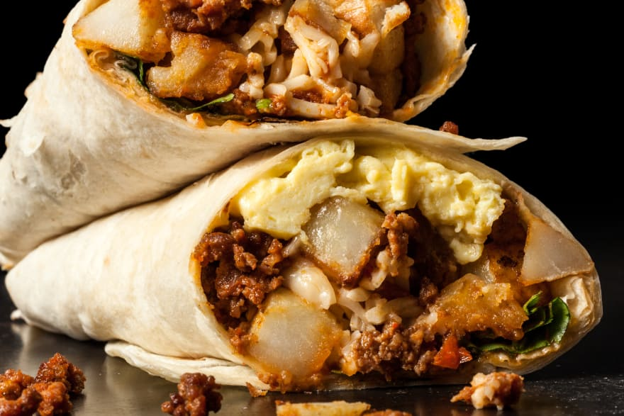 Breakfast burritos…mmmm…