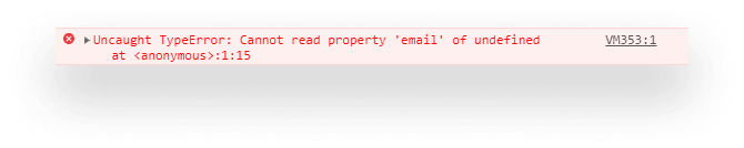 Getting cannot read property error in Chrome