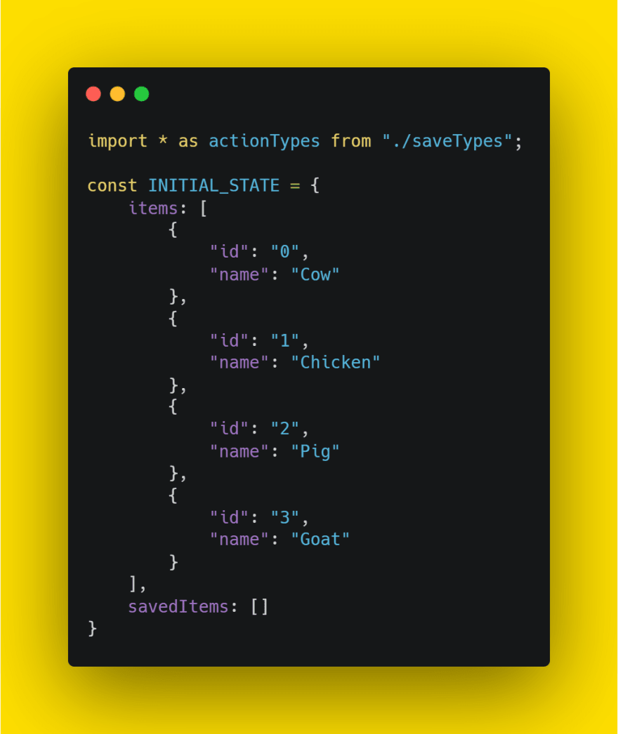 reducer file initial state