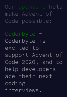adventofcodesponseredbycoderbyte