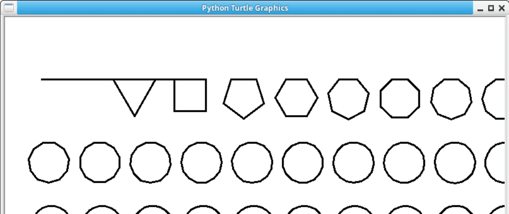 Cover image for Draw all shapes with Python Turtle