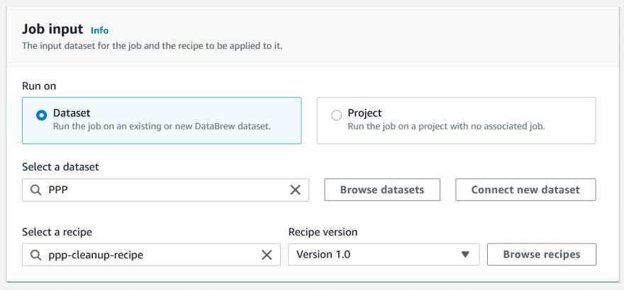 DataBrew Dataset Job