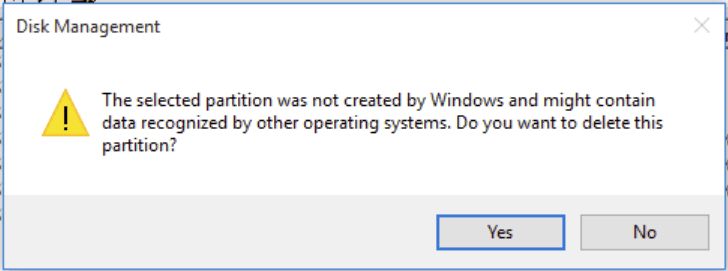 File System is Not Supported by The Operating System