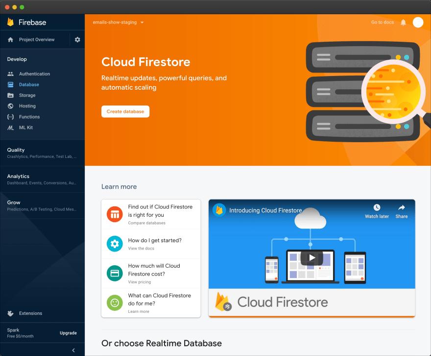 Firebase – Firestore empty