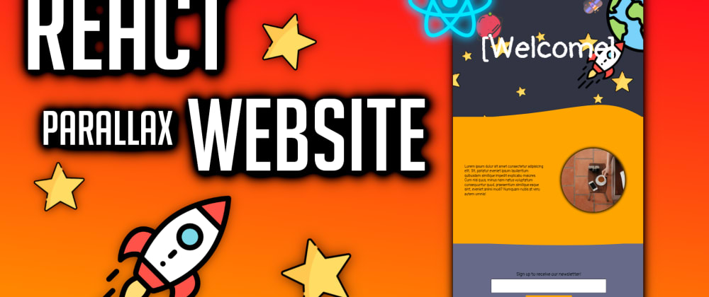Cover image for React Parallax Website Design