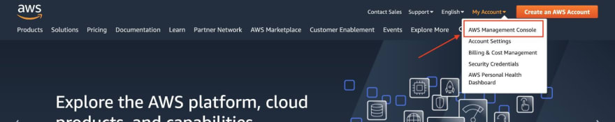 aws where to find the management console