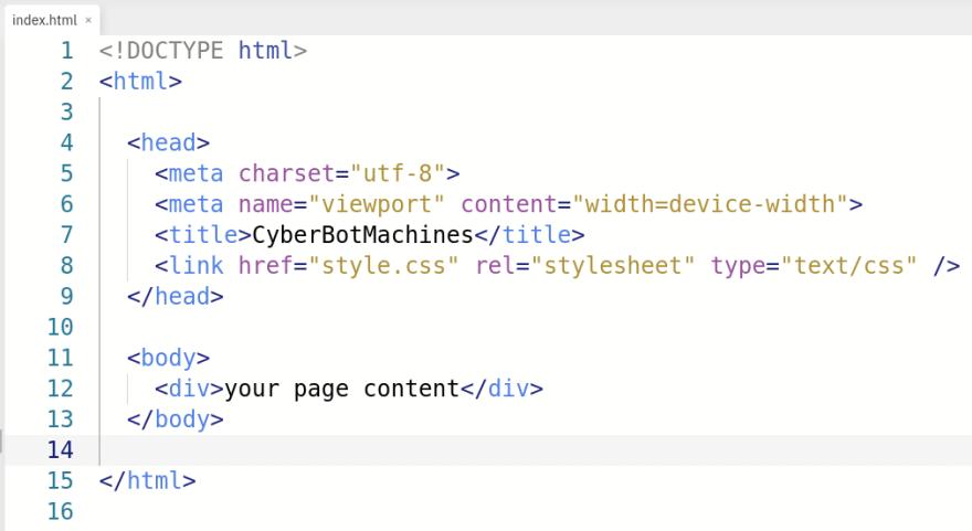 external style sheet code