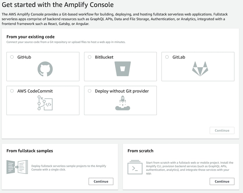 Amplify select source