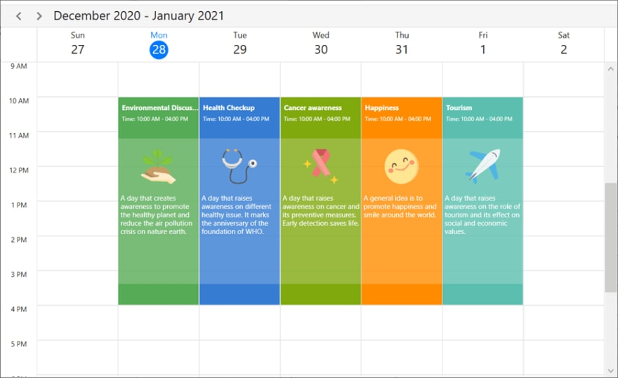 Custom Data Templates in WPF Scheduler