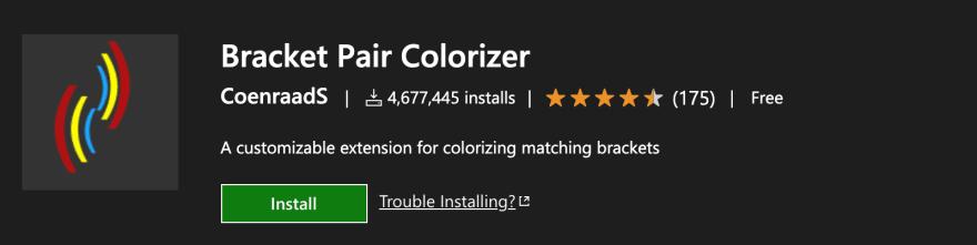 Bracket Pair Colorizer extension