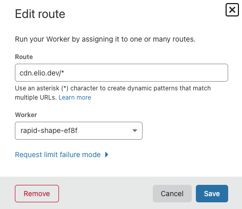 Adding your custom route