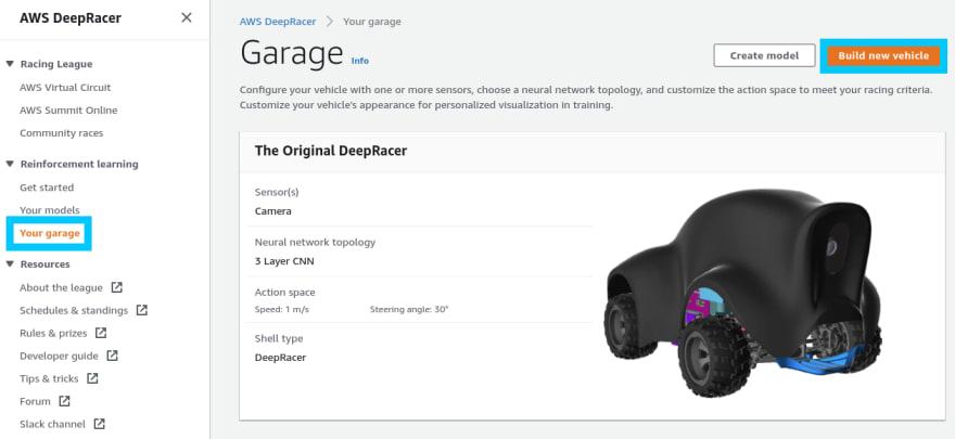 AWS DeepRacer default agent