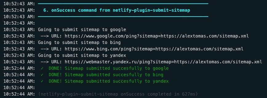 Submit sitemap en Netlify