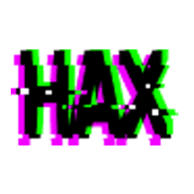 HAX spray paint logo