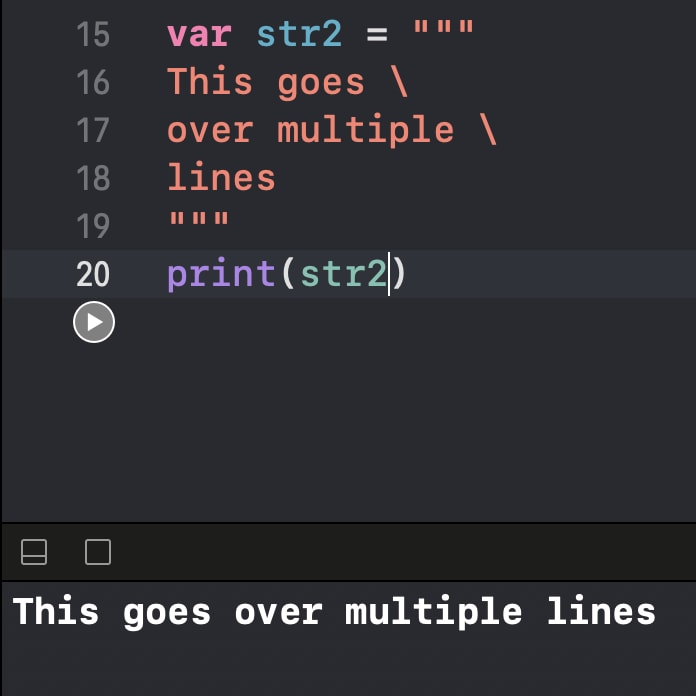 Multi-line is not multi-line