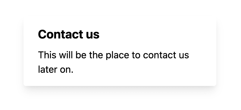 Contact page in Next.js