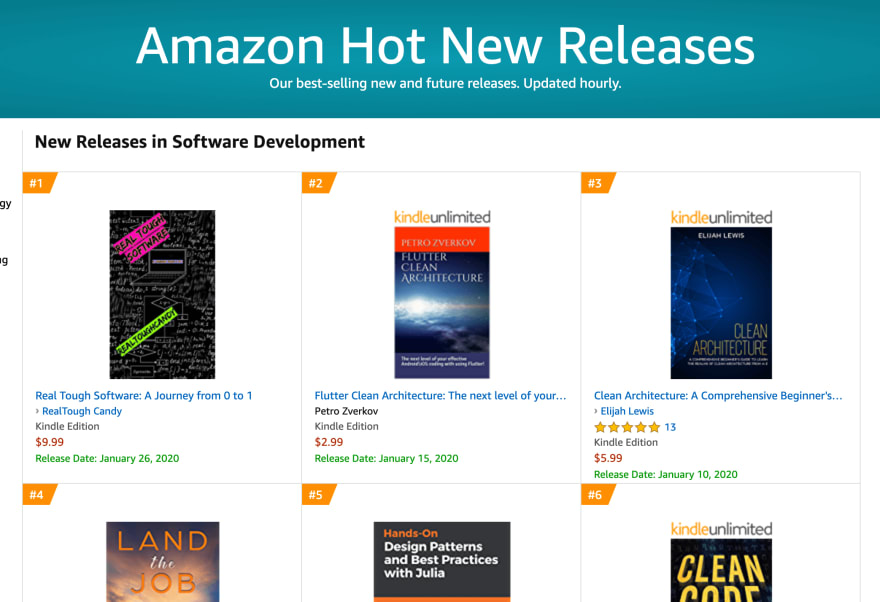 Real Tough Software in number one slot on Amazon
