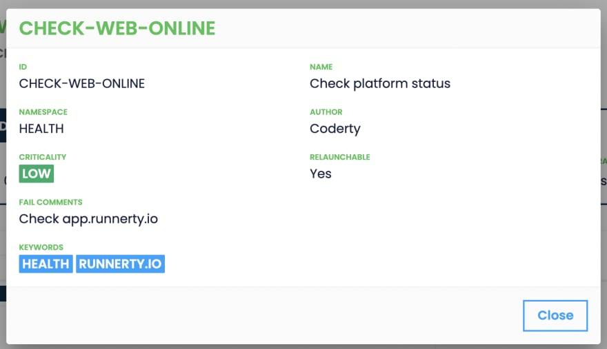 Metadatos en Runnerty Platform