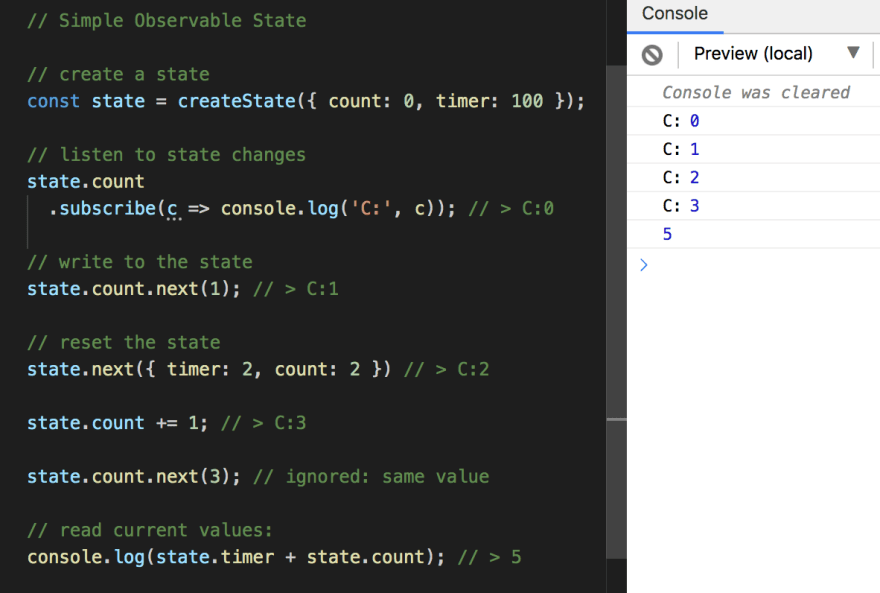 state use example