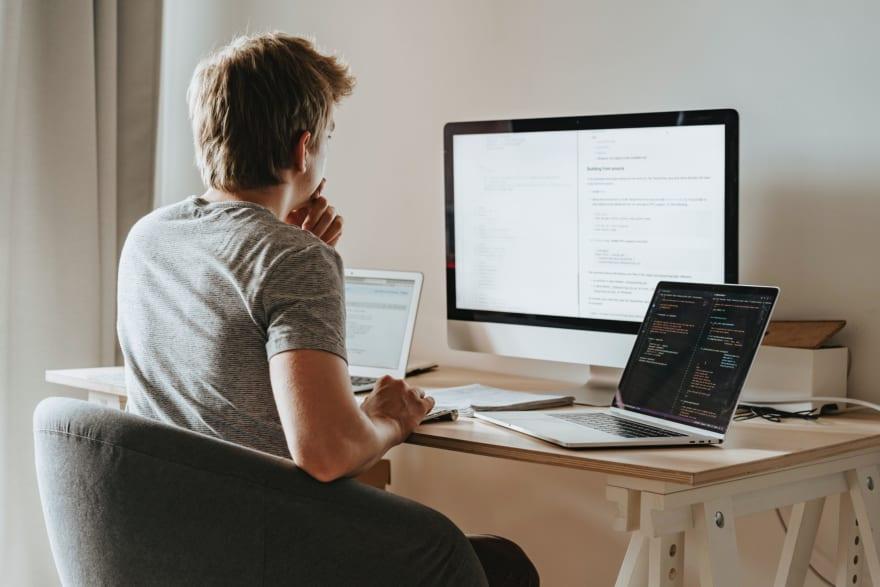 man at coding bootcamp