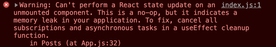 Memory leak react hooks 2