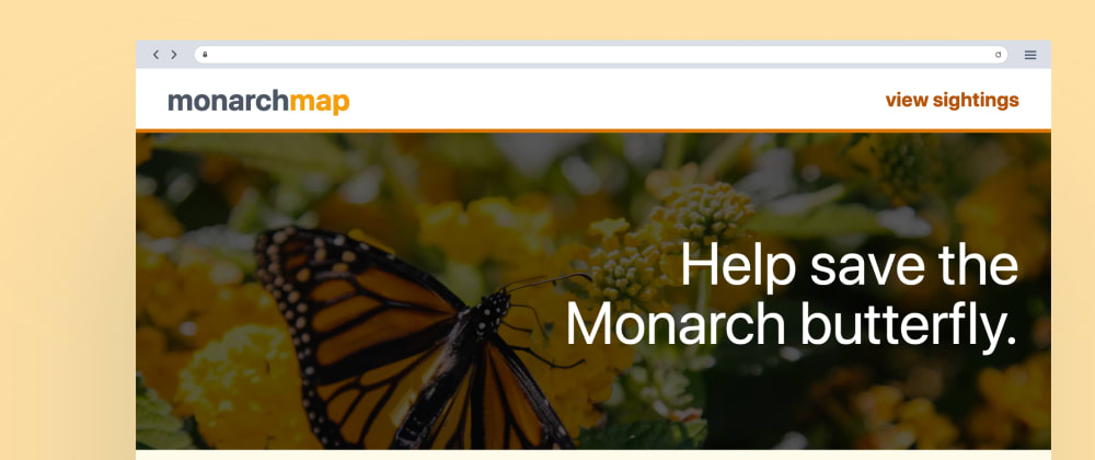 Cover image for MonarchMap: Help save the Monarch butterfly with New Relic 🦋