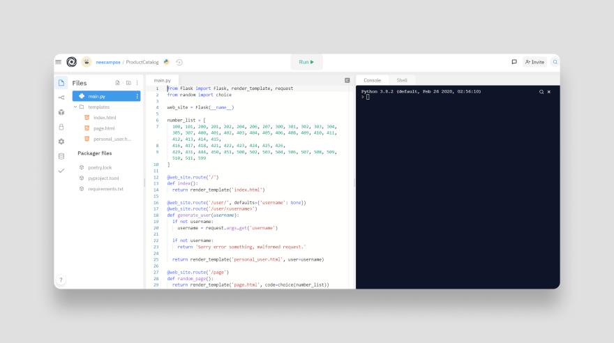 Repl created, edit code here