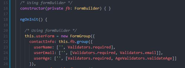 Angular-Reactive-forms-form-builder-typescript-code