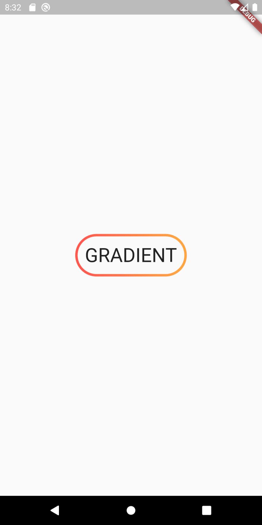 Round gradient border around text with padding