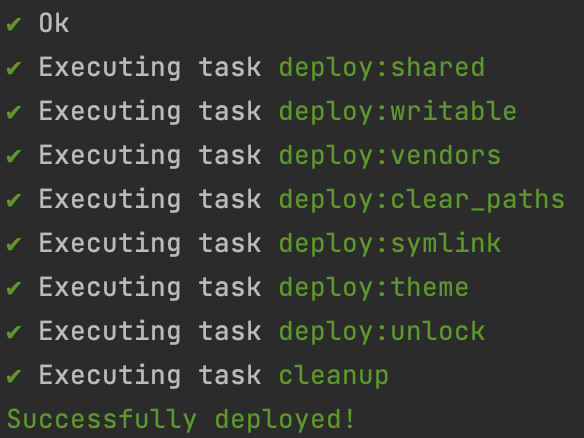 Successful deploy