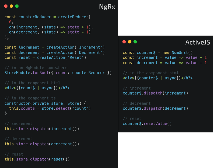 NgRx vs ActiveJS