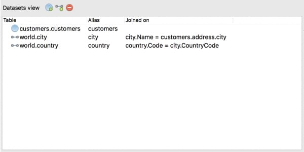 The Datasets view in the SQL to Migration feature