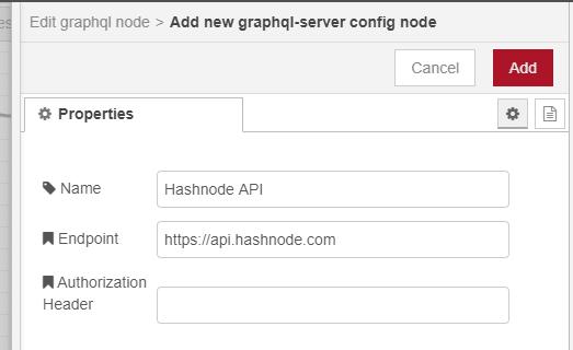 Add hashnode server