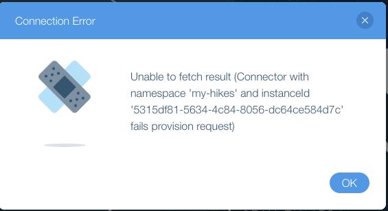 Wix error message: No connection