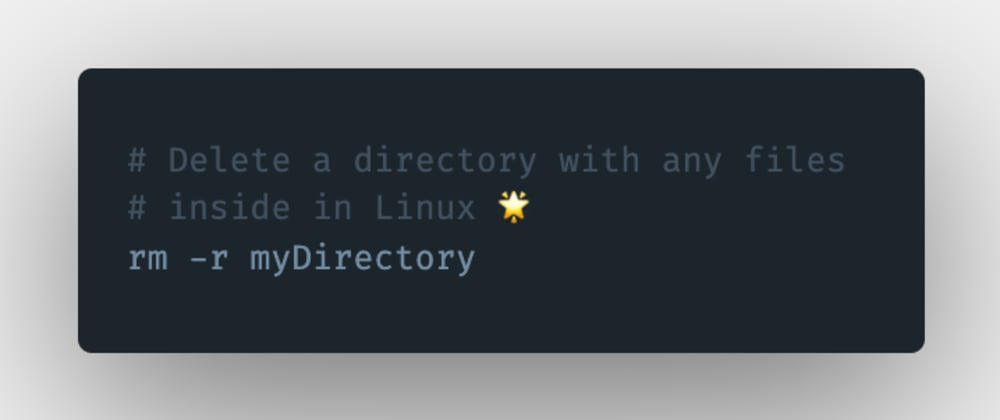Cover image for How to remove a directory in Linux?