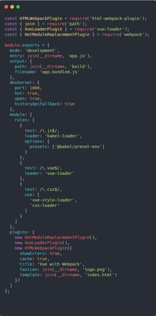 How to configure Webpack and Vue from the ground up - DEV