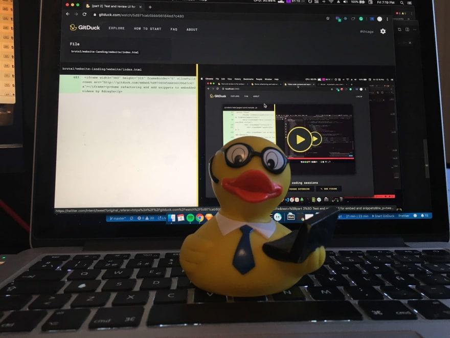 Rubber duck methodology