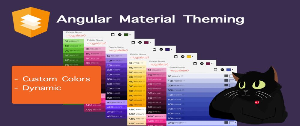 Cover image for Angular Material Theming