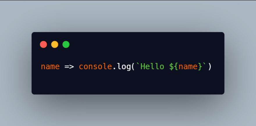 Anonymous arrow function