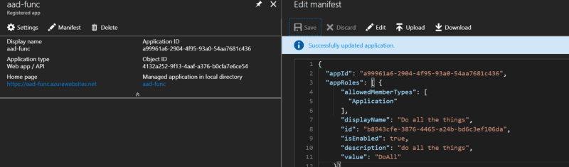 Note the `allowedMemberType of Application—this creates a scope assignable to an application`