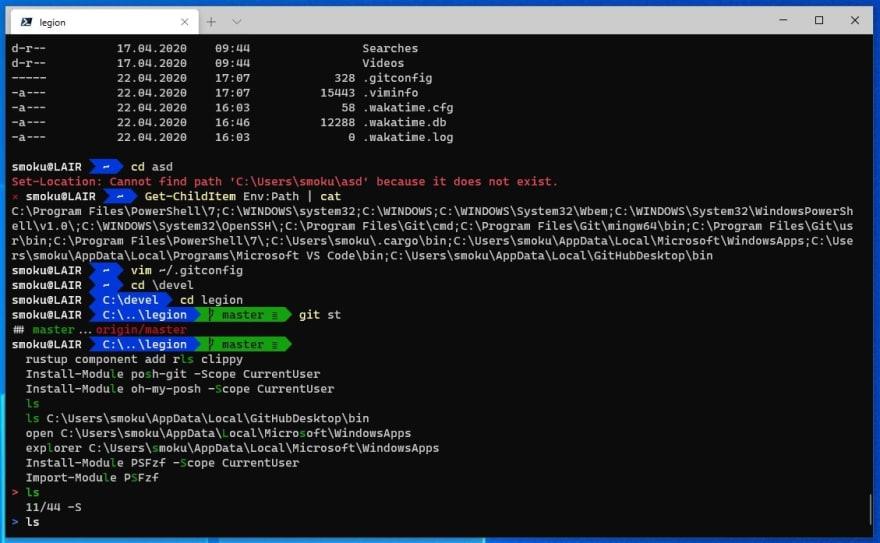 Windows Terminal + PowerShell 7
