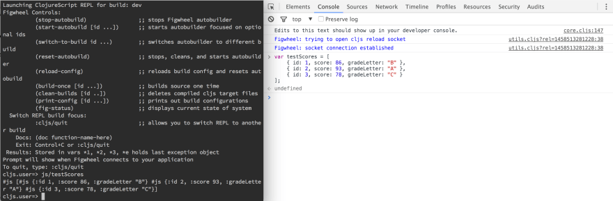 Sharing Data Between Browser and REPL