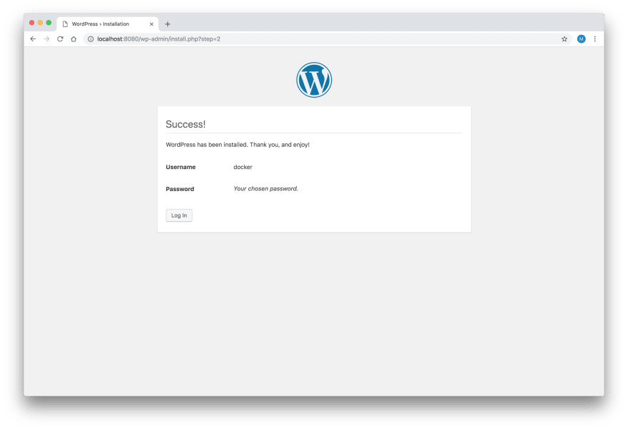 WordPress Setup - Step 3