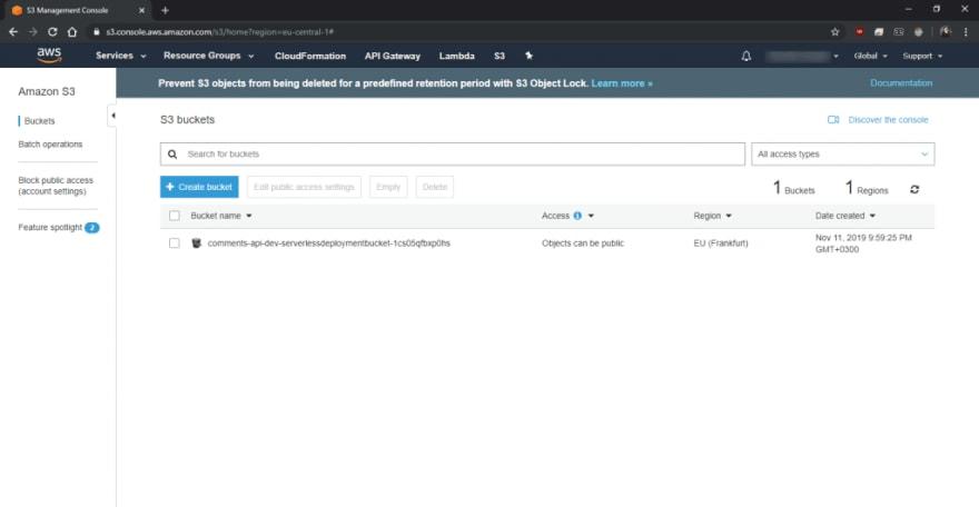 Serverless API S3